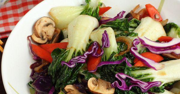 Bok choy stir fry, Stir fry and Vegans on Pinterest