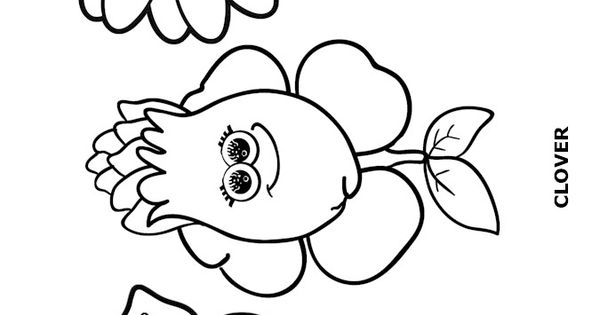 Flower Friends Coloring Page