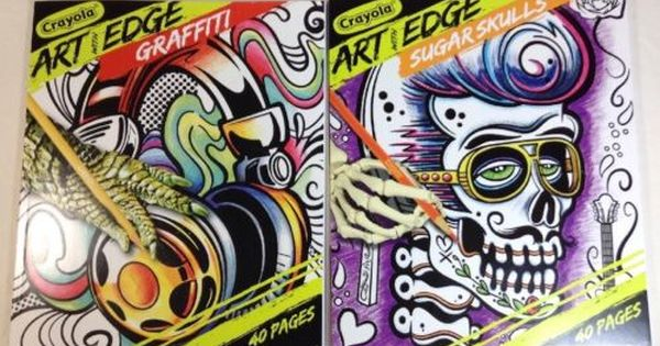 Crayola Coloring Books Art With Edge Graffiti Sugar Skulls 40 Pg 8 X 10 2 Pk Coloring Book Art Crayola Art Coloring Books