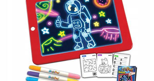 Magic Pad Tablet Tablica Led Pisaki Znikopis Gry Drawing Pad Magic Drawing Drawing Toys