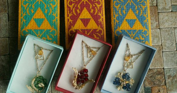 The Legend of Zelda spiritual stones long necklace ($8.23)