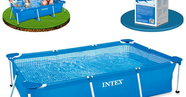Piscina intex rectangular de la serie metal frame su for Ideas para piscinas intex