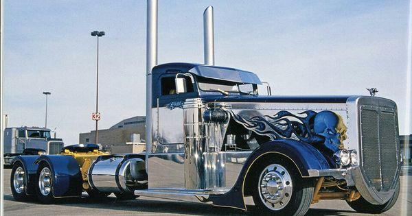 Semi Truck Hoods : Custom rig trucks pinterest rigs and hoods