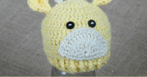 Cream Of The Crop Crochet ~ Preemie Baby Giraffe Hat {Free ...