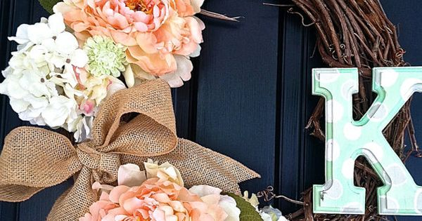 Beautiful DIY Wreath. Love the pink flowers and burlap bow!