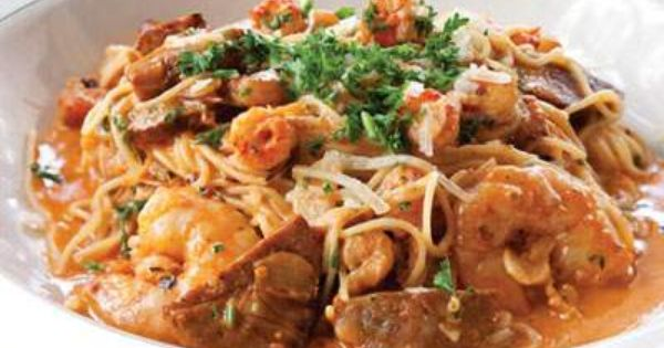 pasta vieux carre w shrimp crawfish andouille sausage. Black Bedroom Furniture Sets. Home Design Ideas