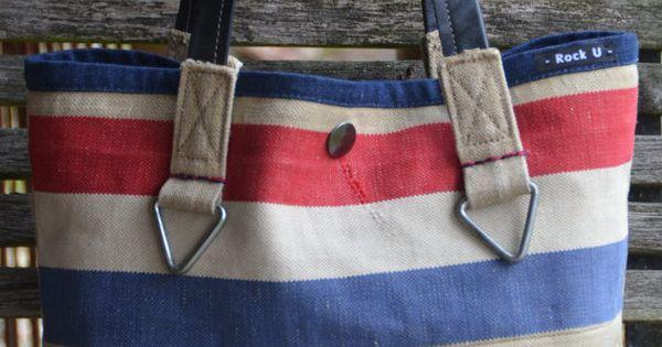 Handgemaakte Tas Leer : Handgemaakte tas van originele ptt postzak en leer door