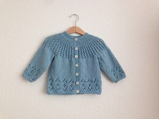 BC012 KNITTING PATTERN PATTERNED BABY CHILDREN'S CARDIGAN WITH COLLAR