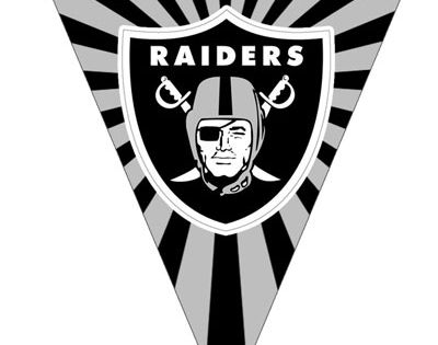 Oakland Raiders Pennant Banner Flag From Printabletreats