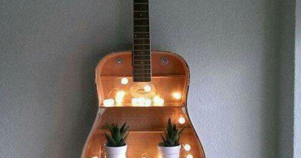 Bedroom ideas for men guitar shelf diy bedroom and guitars - Guitar decorations for bedroom ...