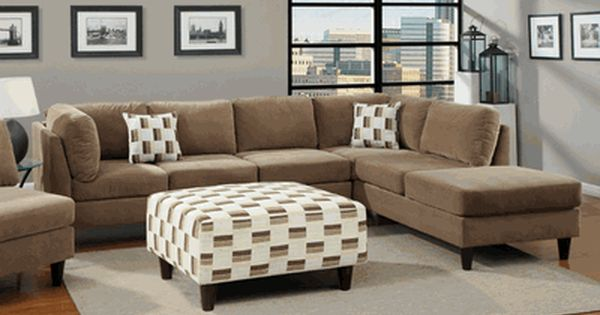 Poundex F7409 Tan Sectional Sofa In Los Angeles Ca Furniture Sectional Sofa Home