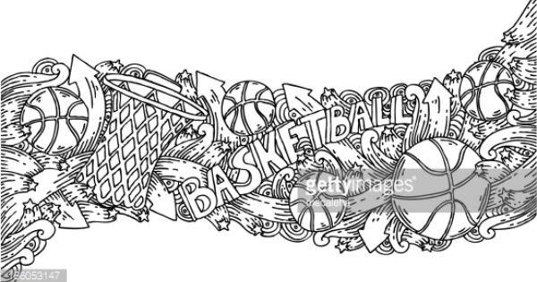 Denver Colorado Skyline Basketball Drawings Basketball Doodle Ball Drawing