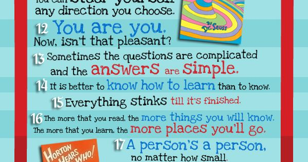 Dr. Suess is a genius and inspiration! 30 Dr. Seuss Quotes
