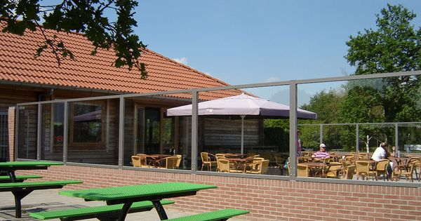Cafe windscherm windschermen terrasschermen pinterest terras en buiten - Buiten terras model ...