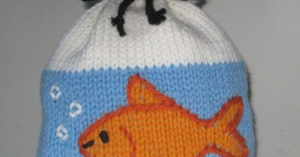 Free Novelty Knitting Patterns : Goldfish in a Bag Hat Knitting Pattern Novelty Hat Knitting Patterns, many ...