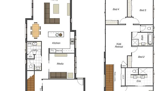 Small lot homes narrow block designs brisbane modern for Townhouse plans for small blocks