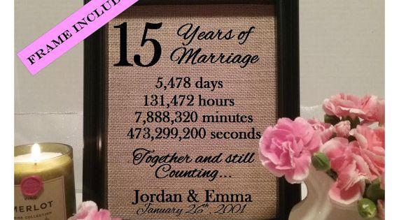 anniversary, 15 years of marriage, 15 year anniversary gift, 15 years ...