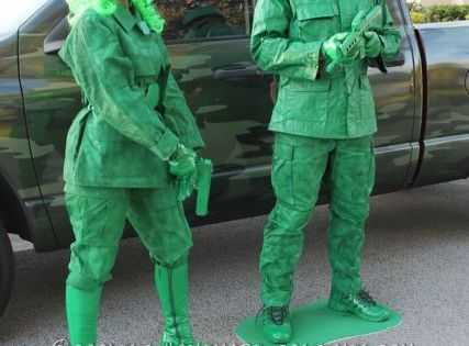 Green Army Soldiers Couple Halloween Costume... This website is the Pinterest of