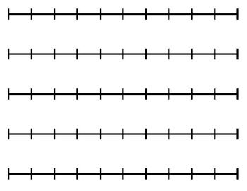 Blank Number Line For Any Activity Number Line Printable Number Line Open Number Line