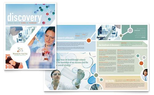 Medical Research Brochure Template Design Stocklayouts Blocks