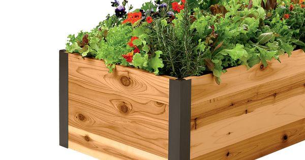 Deep Root Cedar Raised Beds Raised Garden Beds Gardener 39 S Supply Herbology Pinterest