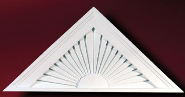Fypon peaked sunburst pediment accent building products for Fypon gable decorations