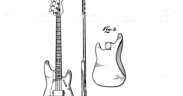 original fender precision bass patent  the first  u0026quot successful u0026quot  electric bass guitar debuted in