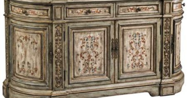 Vera Dusty Sage And Cream Hand Painted Console 55downingstreet