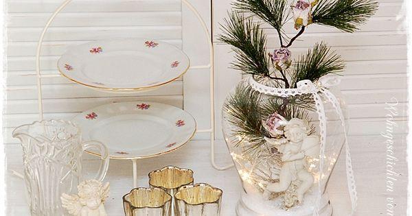 weihnachtsdeko im glas mit schnee und lichterkette. Black Bedroom Furniture Sets. Home Design Ideas