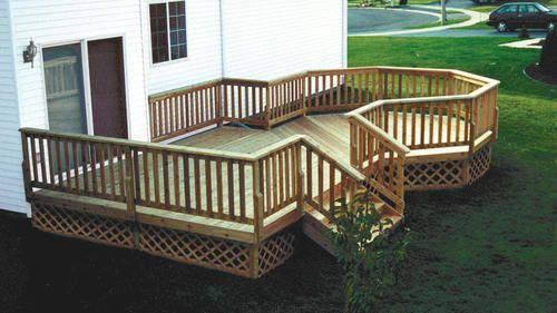 12 X 16 Deck W Deck Design Deck Designs Backyard Patio Deck Designs