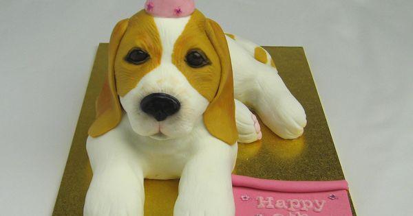 3d Beagle Dog Cake By Www Cakesisters Com Au Dog Cakes Pinterest Beagle Dog Beagle And Cake