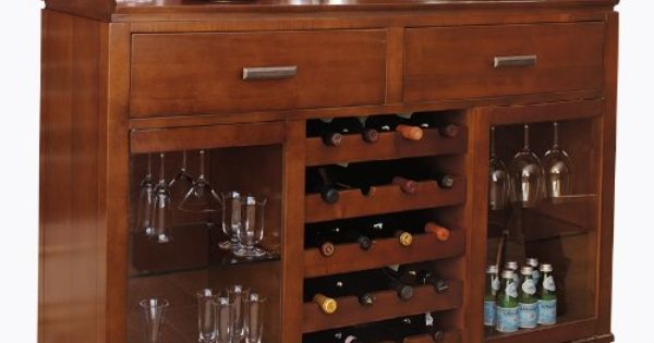 Kenwood wine bar dark cherry wf541 d 2332 amazon for Cherry kitchen cabinets with glass doors