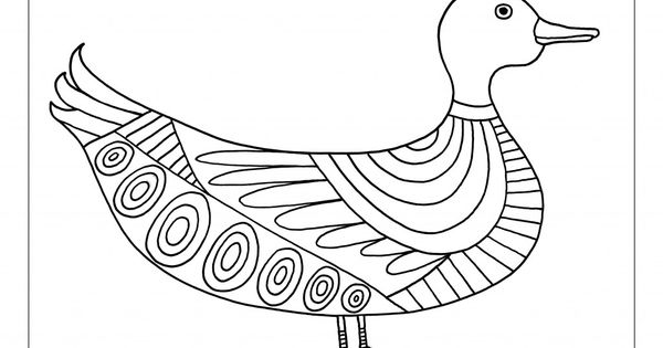 Made By Joel Duck Coloring Sheet Free Printable Template