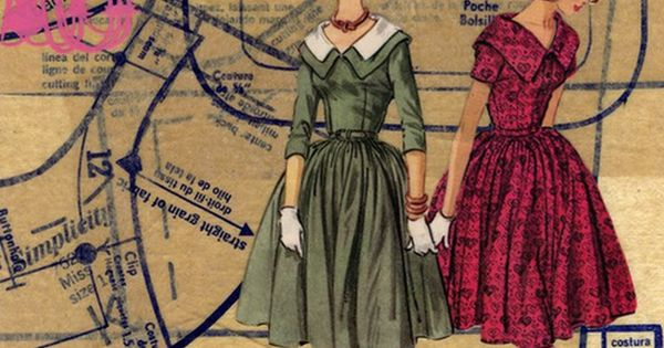 Ideas for something to make with all my old sewing patterns, the