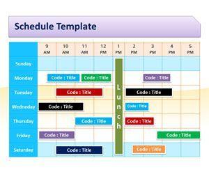 Schedule Template For Powerpoint Schedule Template Powerpoint Templates Project Management Templates