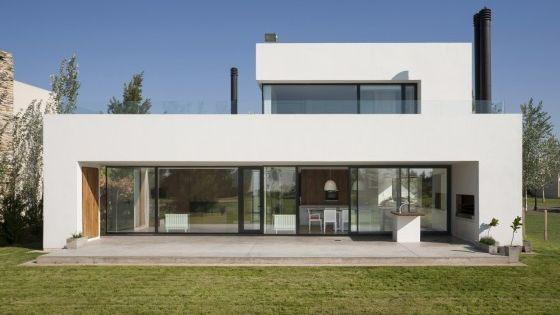 Planos de casa de dos pisos moderna construcci n con for Construccion de casas pequenas modernas