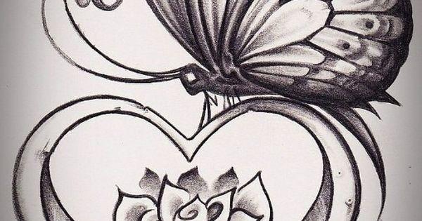 butterfly tattoo design idea
