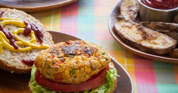 Chickpea burger, Chickpeas and Burgers on Pinterest