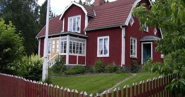 schwedenhaus in l nneberga schweden charme pinterest rote h user haus und haus. Black Bedroom Furniture Sets. Home Design Ideas
