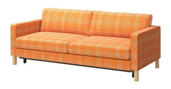 Ikea Karlstad Cover Sofa Bed Slipcover Husie Orange Cotton Cover Only Traditional