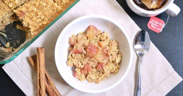 apple baked oatmeal.