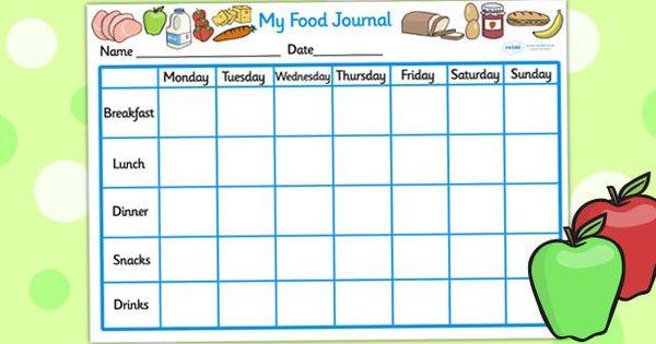 My Healthy Eating Food Journal - Twinkl   Nutrition ...
