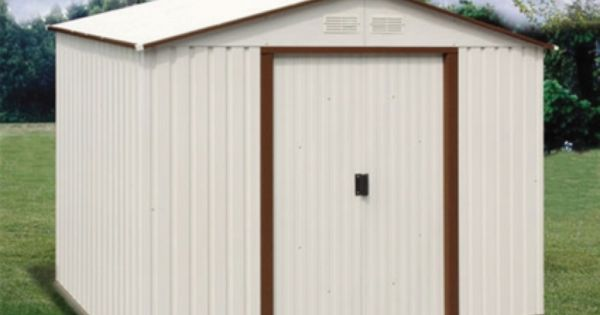 Duramax 10x10 Del Mar Colossus Metal Shed Brown Trim Metal Shed Vinyl Sheds Shed