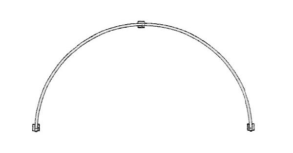 Kirsch 86 Quot Arch Top Clear Tubing For Sheers Or Light