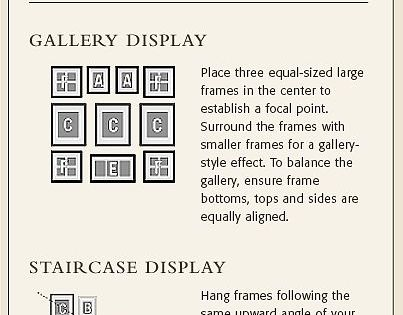 How to create gallery wall displays