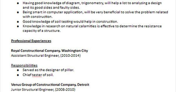 structural engineer resume sample resume examples