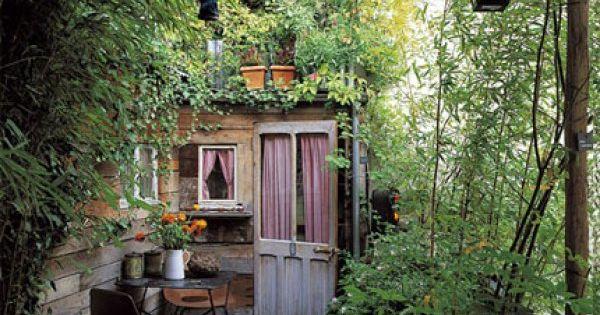 4 id es copier pour donner des airs de jardin son balcon cabane fils et rustique. Black Bedroom Furniture Sets. Home Design Ideas