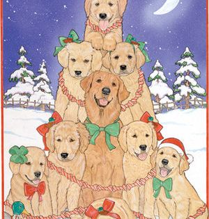 Golden Retriever Christmas Card From Www Twowoofs Co Uk Golden Retriever Christmas Card Golden Retriever Christmas Golden Retriever Gifts