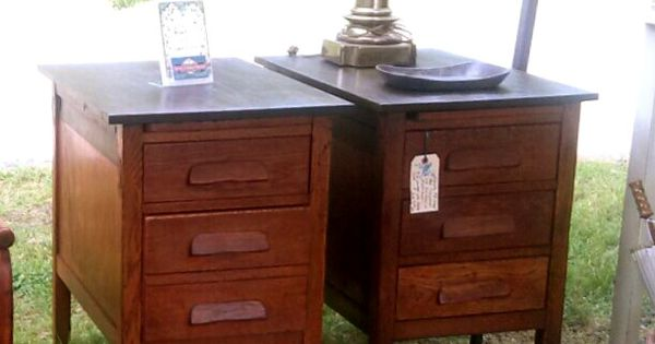 Use To Be An Old 1910 Oak School Desk Top Was Missing So
