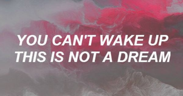 You Can T Wake Up This Is Not A Dream Halsey Google Search Wake Up Quotes The Dreamers